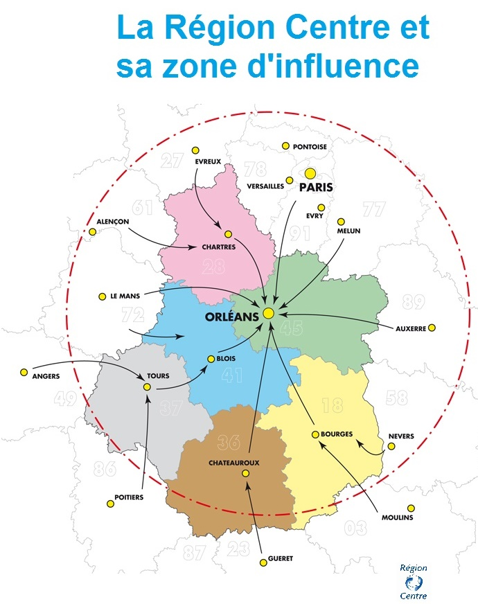 Carte de l'attractivité de la région CENTRE